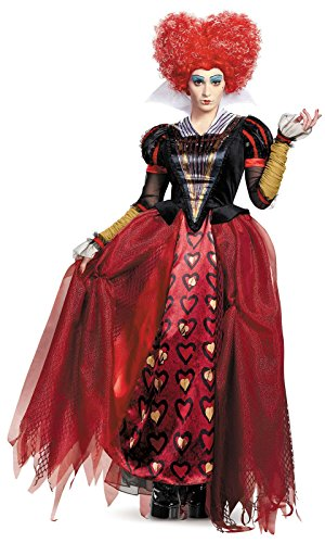 Make An Alice In Wonderland Costumes (Disguise Women's Red Queen Deluxe Adult Costume, (Alice in Wonderland), Multi, Large (12-14) Costume)