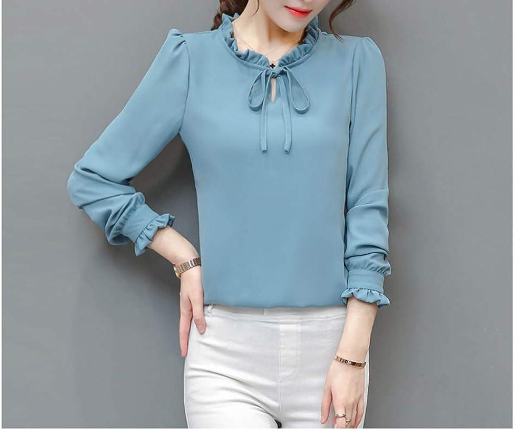 Stylish Fashion Chiffon Office T-Shirt Elegant Floral Blouse Tops Girl Korean