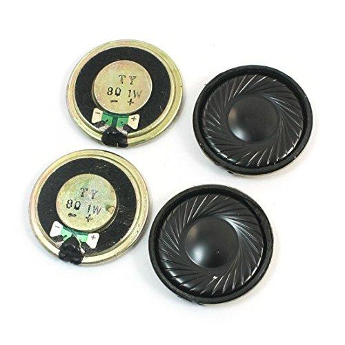4Pcs 1W 8 Ohm 32mm Dia Round Metal Internal Magnet Speaker Loudspeaker