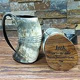 Unique Custom Buffalo Horn Mug Personalized Gift