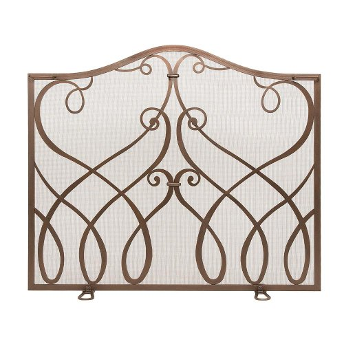 Minuteman Cypher Wrought iron Fireplace Screen Size: Smal...