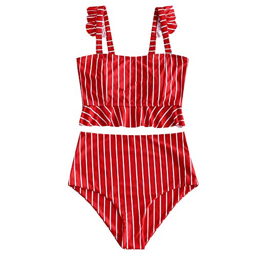 Striped 2 Piece Swimsuit - 7