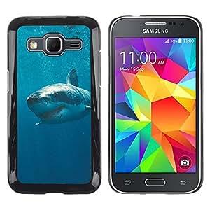 Caucho caso de Shell duro de la cubierta de accesorios de protección BY RAYDREAMMM - Samsung Galaxy Core Prime SM-G360 - The Killer White Shark In Ocean