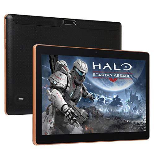 10.1″ 3G Tablet PC, Colorful Android 7.0 Tablet 4GB RAM, 64GB Speicher, Dual-SIM 1920*1200 HD Touchscreen,Dual Kamera 2MP und 5MP, Quad Core CPU, WiFi/ WLAN/ Bluetooth (Schwarz)
