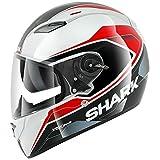 Shark Vision-R S2 Syntic Helmet (White/Black/Red, Small)