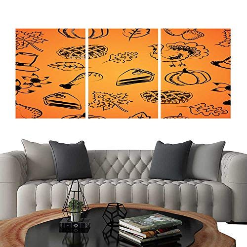 Triptych Art SetSeamless pattern with hand drawing and