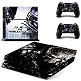 Vanknight Vinyl Decal Skin Sticker Alien VS Predator for PS4 Playstaion Controllers by Vanknight
