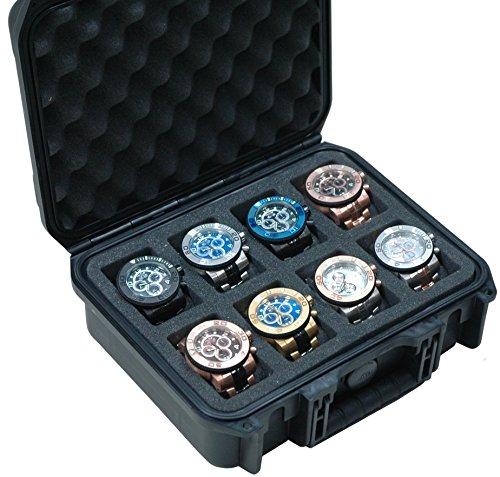Case Club Waterproof 8 Watch Traveling Case