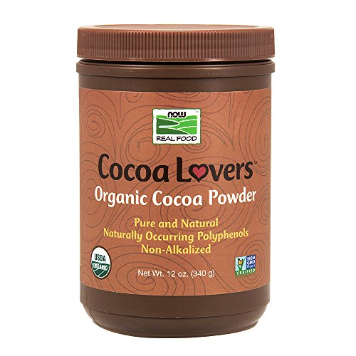 NOW Foods Organic Cocoa Powder, 12-Ounce