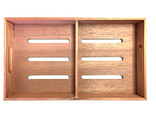 F.e.s.s. Fess Storage versatility Cedar Tray with Adjustable Divider