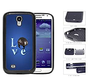 Love Air Force Brown Helmet with Royal Blue Background Samsung Galaxy S4 i9500 (2-piece) Dual Layer High Impact Cell Phone Case