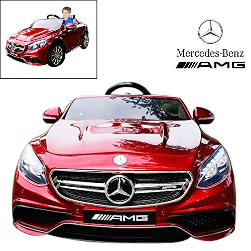 Official Licensed Mercedes Benz Ride On Car with Remote Control for Kids | 12V Power Battery AMG S63 Kid Car to Drive with 2.4G Radio Parental Control (Licensed Car)
