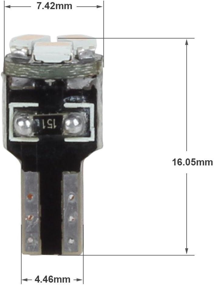 Partsam 10X Purple T5 74 37 2721 3-SMD LED Bulbs Instrument Cluster Dash Gauge Side Light Bulb