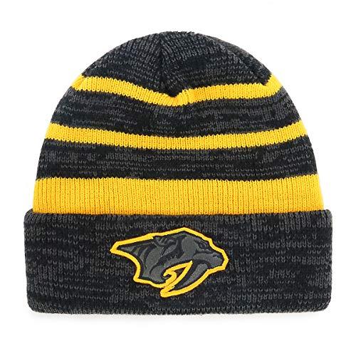 OTS NHL Nashville Predators Male Line Cuff Knit Cap, Black, One Size (Hat Knit Line)