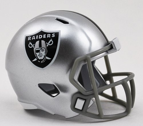 Oakland Raiders NFL Riddell Speed Pocket PRO Micro/Pocket-Size/Mini Football Helmet