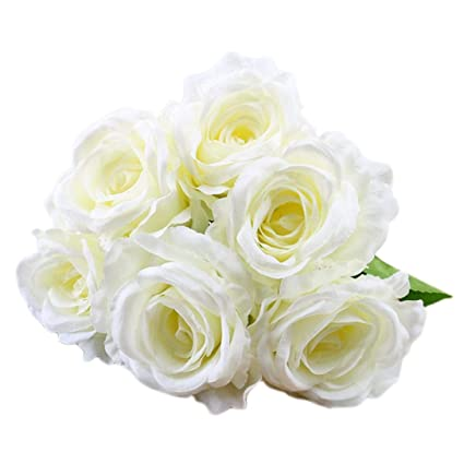 Amazon clearancebouquet for decorationvintage artificial clearancebouquet for decorationvintage artificial rose silk flowers white mightylinksfo