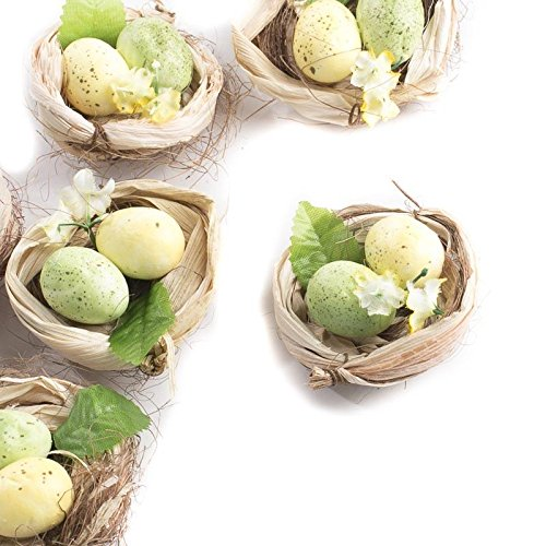 rtificial Egg Filled Bird Nests for Wedding Favors, Party Favors or Baby Showers ()