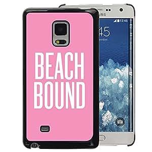 A-type Arte & diseño plástico duro Fundas Cover Cubre Hard Case Cover para Samsung Galaxy Mega 5.8 (Beach Bound Pink White Text Summer)