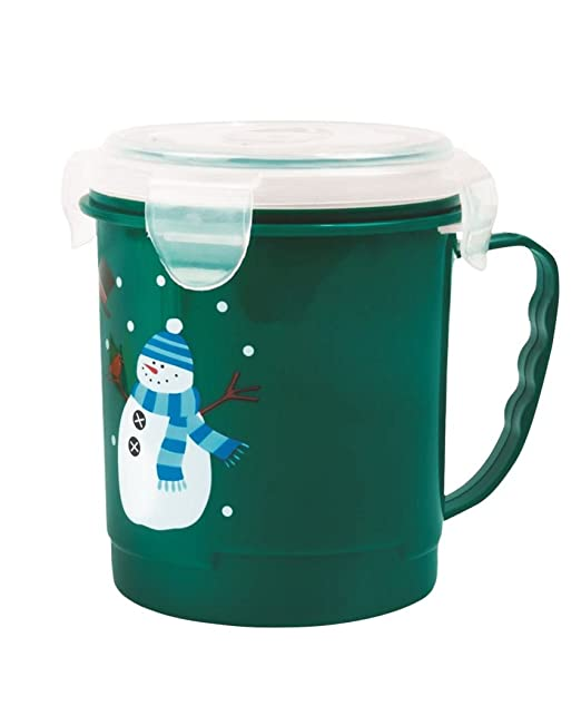 LOT SHOP - Taza de sopa de diseño navideño, microondas, con tapa y ...