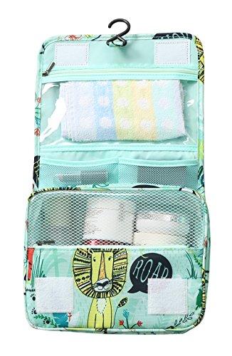 Cosmetic Makeup Bag Case,Hanging Toiletry Bag,Travel Organizer Travel Kit For Women Men (Animal World)