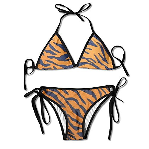 - ART TANG Perfect Gift For Women - Tiger Print Animal Print Cool Summer Sexy Two Pieces Halter Bikini Set