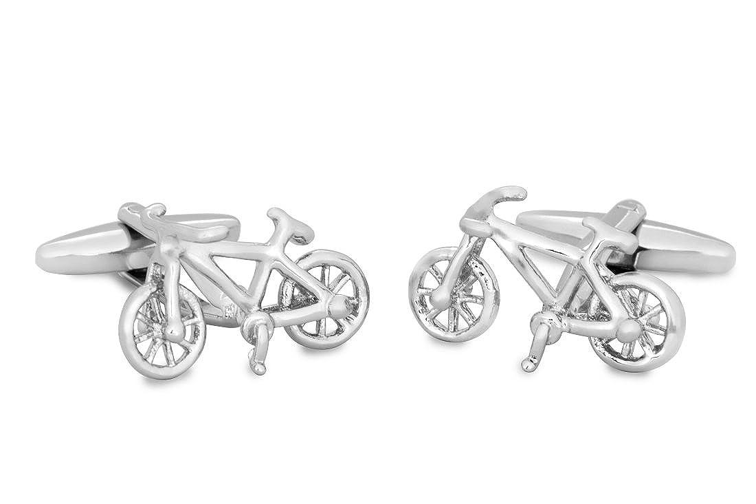 SoloGemelos - Gemelos De Plata Bicicleta - Plateado - Hombres - Talla  Unica: SoloGemelos: Amazon.es: Ropa y accesorios