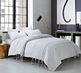 Byourbed Threads Textured Twin Duvet Cover - Oversized Twin XL - Gray/Pink