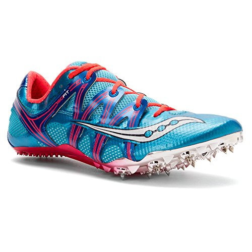 Saucony Mujer Showdown 2pista de zapatos azul claro/rosa