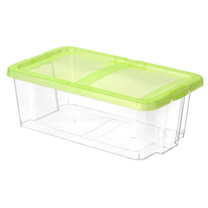 Cajas transparentes de zapatos de plástico transparente Levante la tapa Estante apilable zapatos plegables Organizer Box