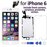"Corepair iPhone 6(4.7"") Screen Replacement White – Corepair Full Assembly Retina LCD Display Touch Digitizer with Front Camera, Ear Speaker, Proximity Sensor, Screen Protector, Repair Tools"