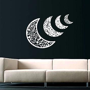 Sky Moon Stars Sun Space Decals Half Moon Crescent Wall Decal Vinyl Decals  Sticker Home Interior