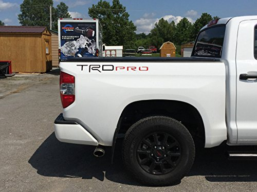 BDTrims | Black & Red TRD Pro Letters for Toyota Tundra 2014-2019 Truck Bed Plastic Inserts
