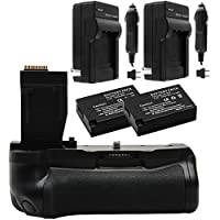 Vivitar Two-Pack 1140mAh Battery & Charger for LP-E17 + T6i/T6s Deluxe Power Battery Grip Bundle