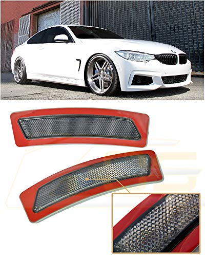 Extreme Online Store for 2014-Present BMW F32 F33 F36 4-Series EOS Factory Style Crystal Smoke Front Bumper Fender Reflector Side Marker Lights Turn Signal Lamps
