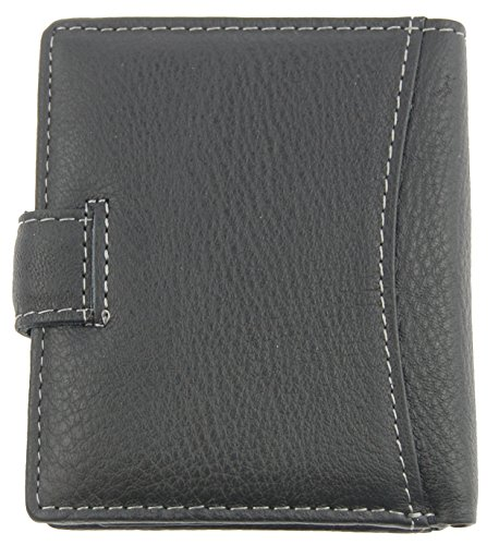 NB24 Geldbörse WILD THINGS ONLY !!! (5505-1) für Damen und Herren, Echt Leder, schwarzGröße ca. 11 x 2 x 9 cm