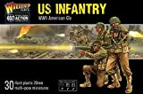 Bolt Action US Infantry American GIS 1:56 WWII Military Wargaming Figures Plastic Model Kit