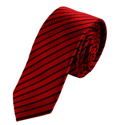 (PS1149 Excellent Fabric Red Quilt Narrow Tie Matching Gift Box Set Wholesale For Designer Stripes Mens Skinny Tie By Epoint)