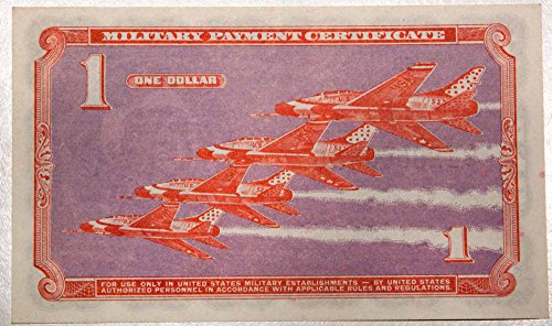 (1966 No Mint Mark Military Payment Cerificate Dollar Seller Choice About Uncirculated)