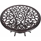 Antique Bronze Cast Aluminum 3-Piece Bistro Set