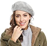 Women Solid Color French Wool Beret