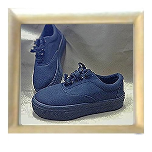 Snakers con suola alta / women ladies flat platform wedge lace up punk/ CREEPERS DBOkbd4