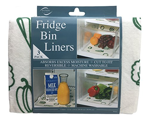 Inside Liner (Envision Home 432700 Fridge Bin Liners, 3 count, 12-Inch by 24-Inch, White)