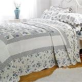 Linens Limited Parure couvre-lit matelassé Lille 1 personne - bleu - 180 x 260cm