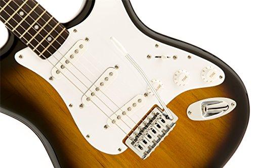 squier by fender bullet strat beginner electric guitar brown sunburst rosewood fingerboard. Black Bedroom Furniture Sets. Home Design Ideas