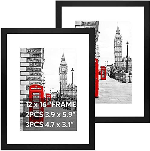 2PCS Large Picture Frames with Mount