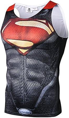 スーパーマン Tシャツ 速乾 スポーツ tシャツ 半袖tシャツ 3D高品質 プリント tシャツ メンズ タンクトップ ブラック
