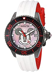 Invicta Womens Disney Limited Edition Automatic Stainless Steel Casual Watch, Color:White (Model: 22755)
