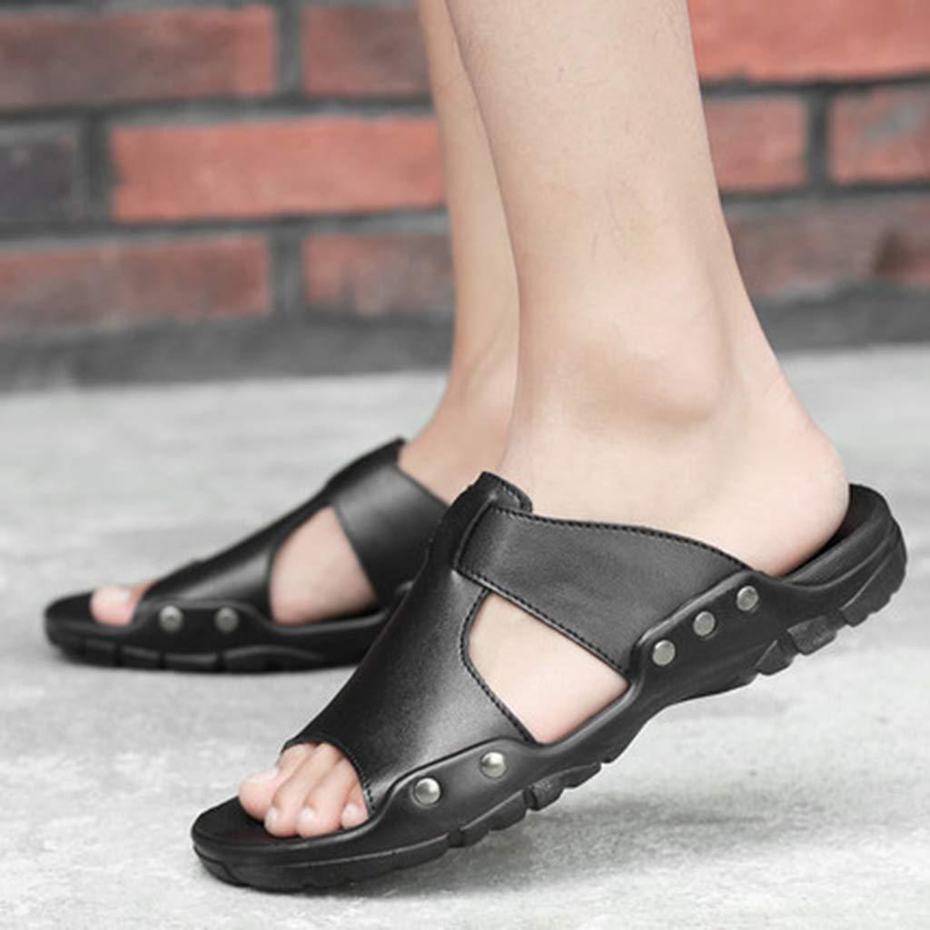 Pantofole Leggere Traspiranti Henxizucun Sandali Sportivi di Grandi Dimensioni Scarpe da Spiaggia Casual da Uomo Sandali Sportivi Antiscivolo Non Traspiranti