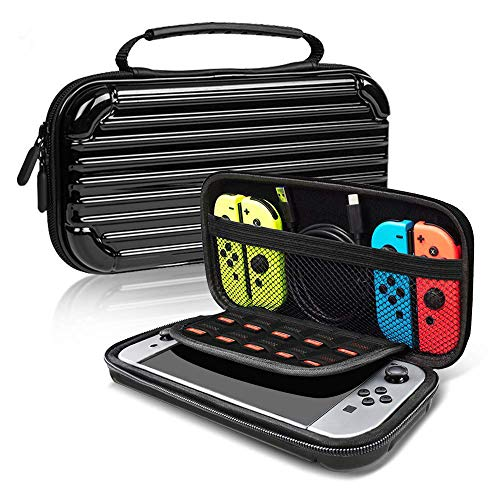 (Nintendo Switch Hard Case,Suitcase Design,Portable Hard Shell Pouch Traveler Game Bag for Nintendo Switch Console & Accessories)