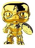 Funko Pop Marvel: Marvel Studios 10 - Captain America (Gold Chrome) Collectible Figure, Multicolor